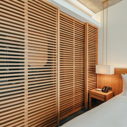 Wooden partition wall