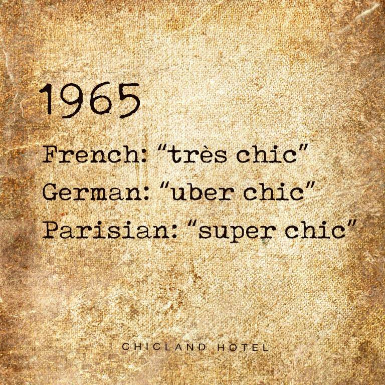Chic 1965 - CHICLAND hotel