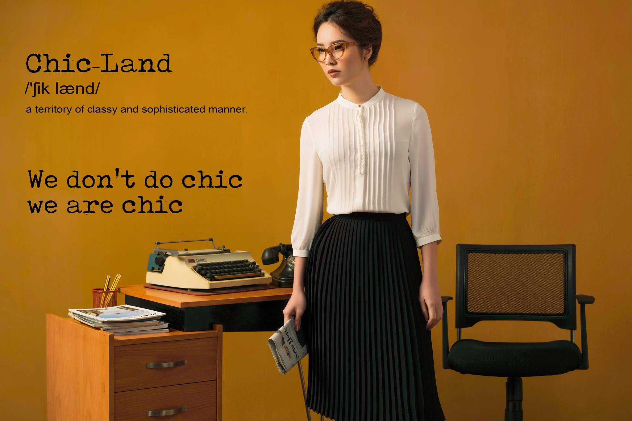 elegant girl - CHICLAND hotel